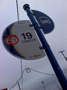 No 19 bus stop